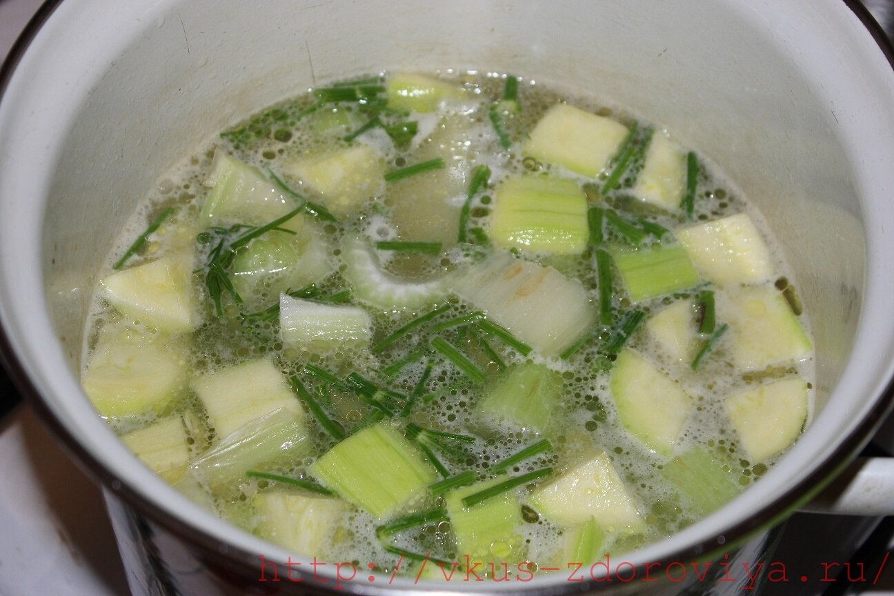 Рецепт супа из кабачков пошагово в